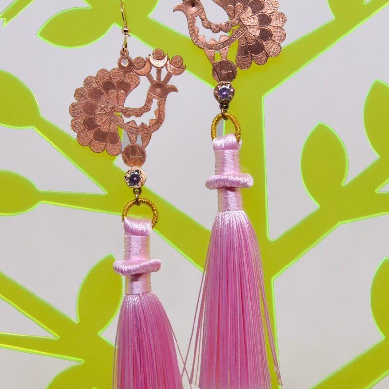10. Aurora FolkGlamour rózsaszín beszélő Mini fülbevaló