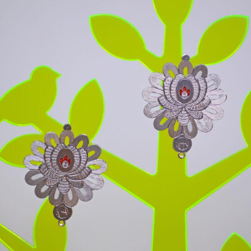 12. Aurora FolkGlamour Matyó virágos Mini fülbevaló piros
