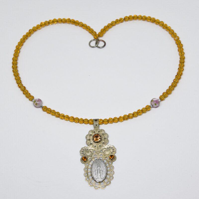 21. Aurora FolkGlamour borostyán színű Mária nyakék